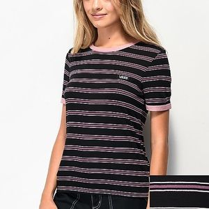Vans Evermore Black Stripe T-Shirt. Women's M.